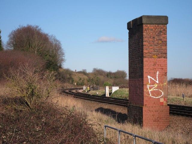 Former bridge over Kent Coast Line