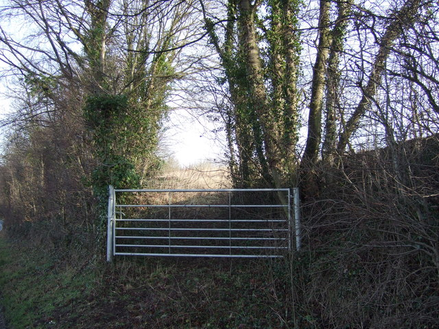Field entrance off Potterton Lane