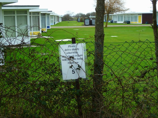 Notice on footpath by Selsey Country Park