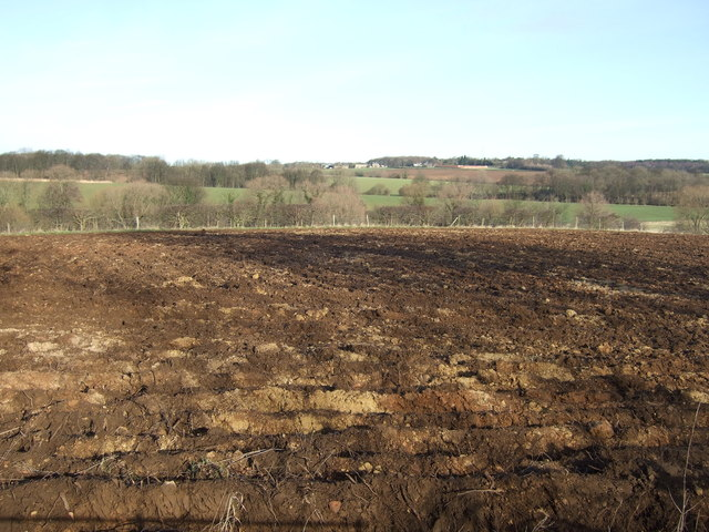 Ploughed field off Cattle Lane