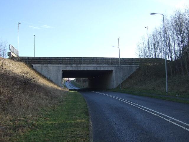Motorway bridge over Lotherton Lane