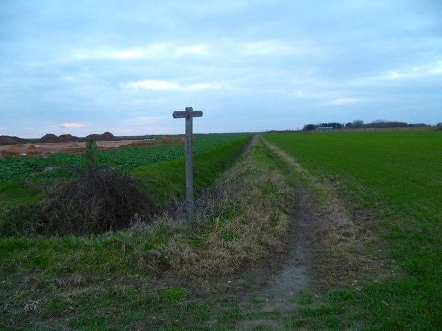 Footpath towards Ham Farm