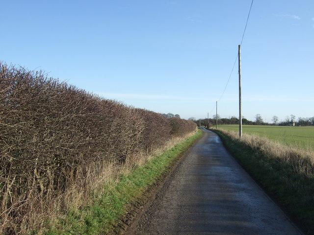 Stocking Lane heading east