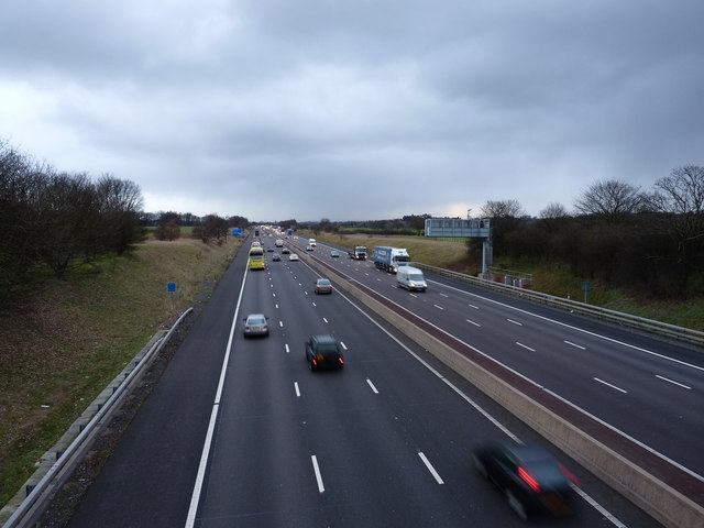 M6 - looking north on a gloomy afternoon