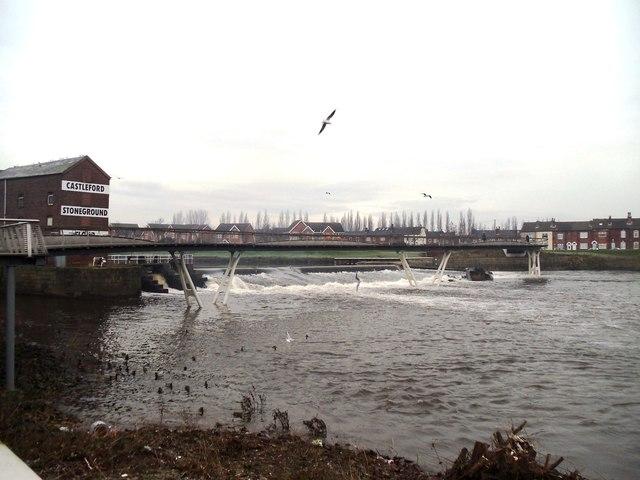 Footbridge over the River Aire, Castleford