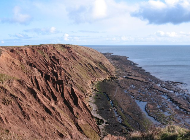 Boulder clay erosion, Filey Brigg
