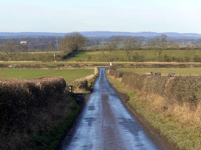Minor road north of East Heddon
