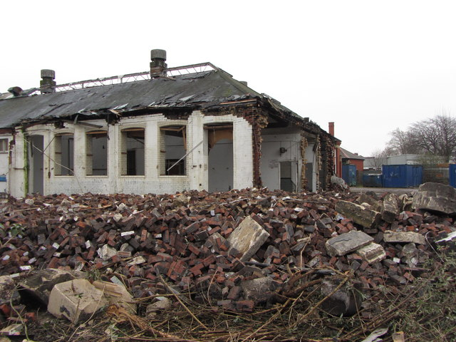 Demolition of the old Penylan Laundry