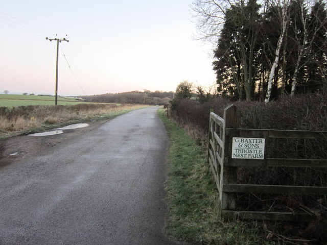Parlington Lane towards Throstle Nest Farm