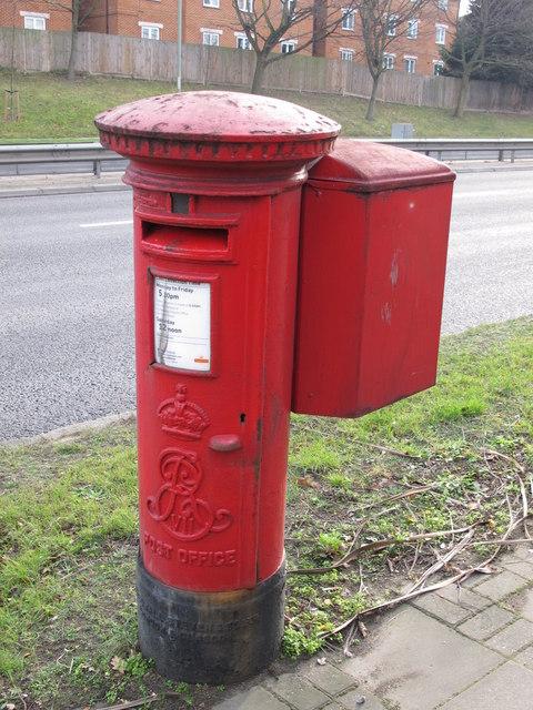 Edward VII postbox, Watford Way (A41) / Selborne Gardens, NW4