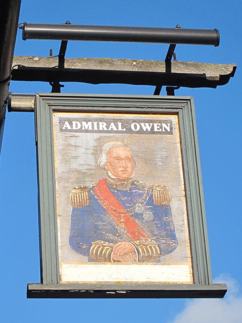 Admiral Owen sign