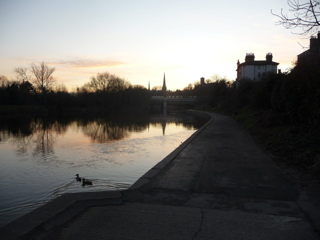Part of the River Severn in Shrewsbury
