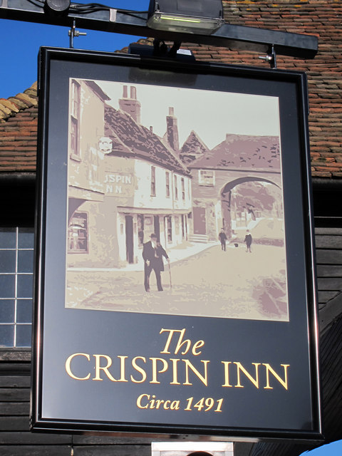 The Crispin Inn sign