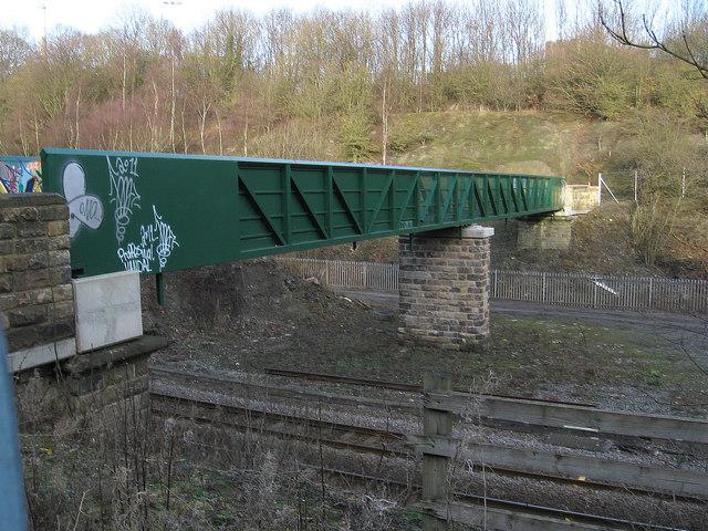 Somercotes - Cotes Park railway footbridge