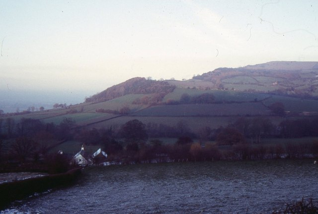 Looking towards Merbach Hill, from above Newton