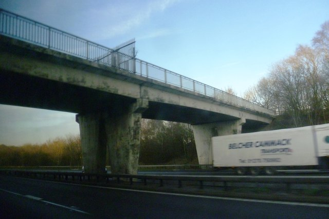 Fenced Bridge over the M6