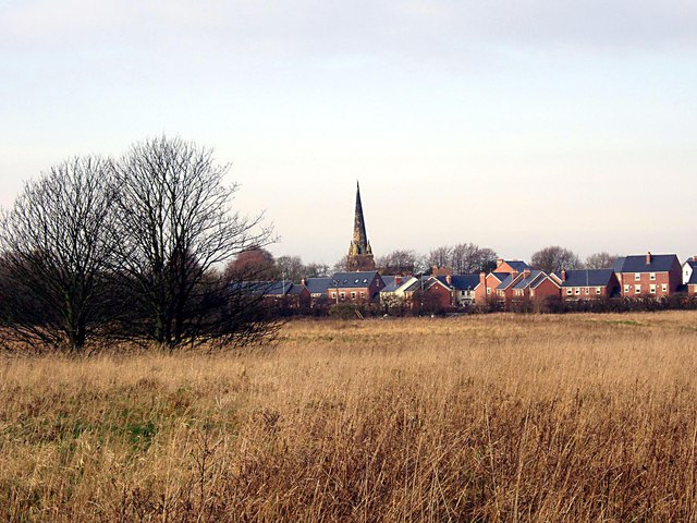 Grassland, with a view towards Sefton Church in the next square