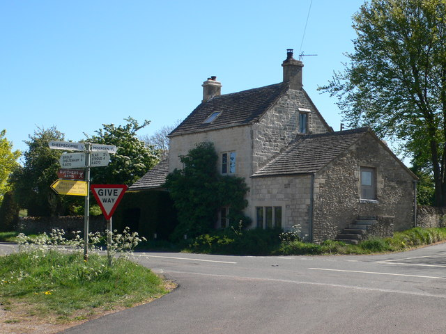 House on the corner of the B4070  and the Miserden junction