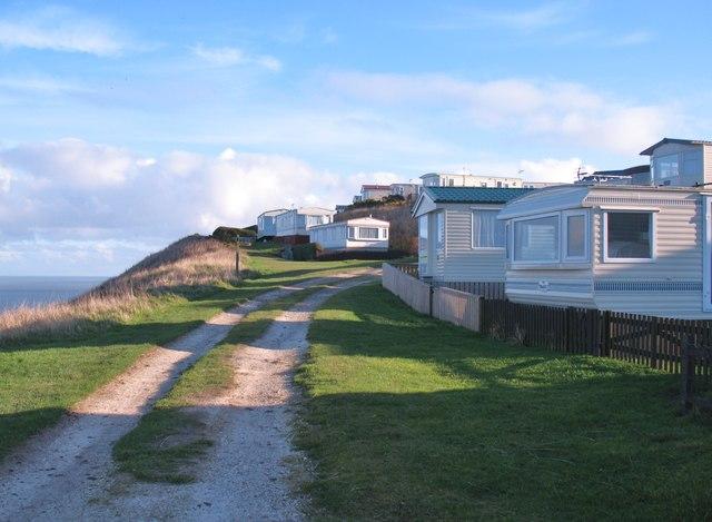 Clifftop caravans