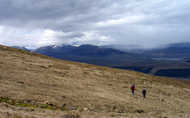 Grassy slope of Coire Fhàr