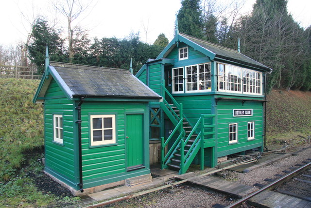 Signal box and lamp shed, Rothley Station
