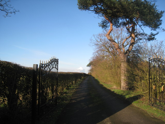 The driveway to the former vicarage