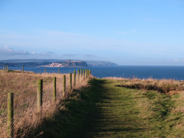 Rounding Red Cliff Point on the Cleveland Way