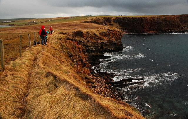 Coastal path from Harrabrough Head