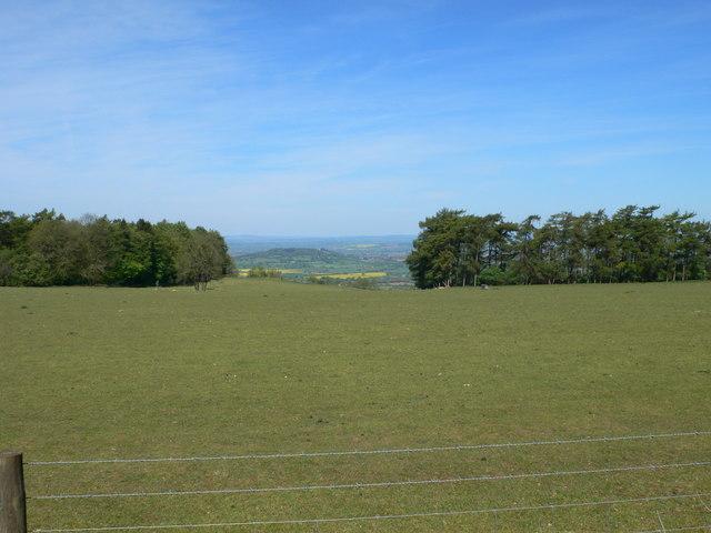 View west towards Gloucester, north of Birdlip