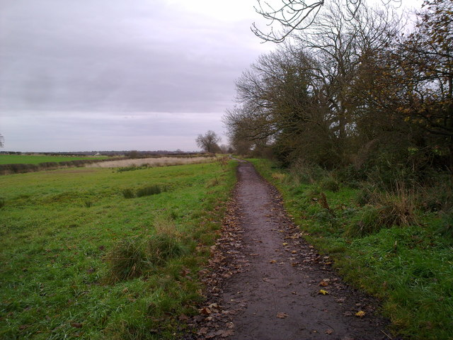 Looking the track towards Prestwick Carrs