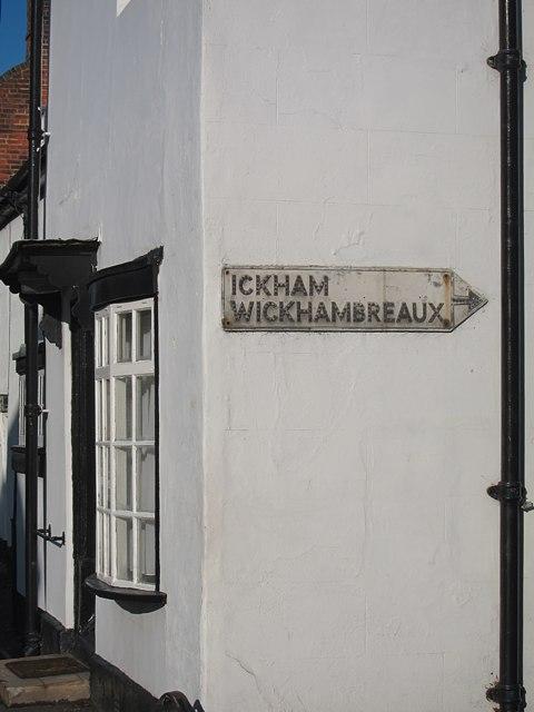 Ickham and Wickhambreaux sign
