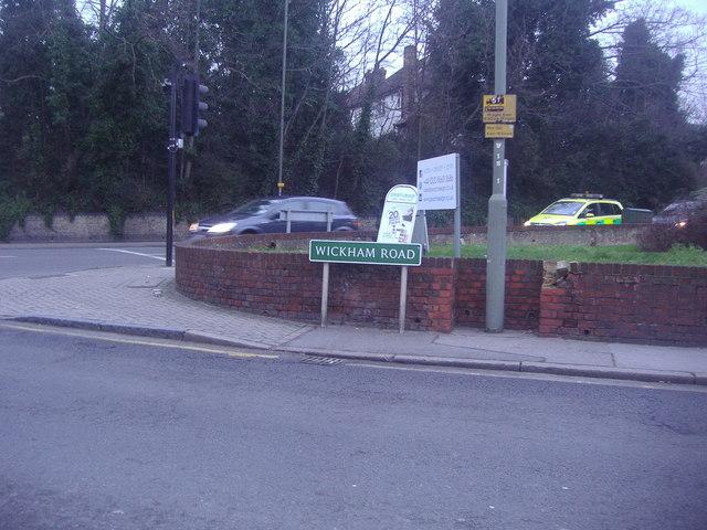 The corner of Wickham Road and Bromley Road, Beckenham