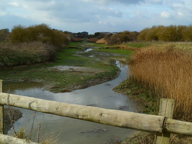 Water channel west of Pagham Harbour