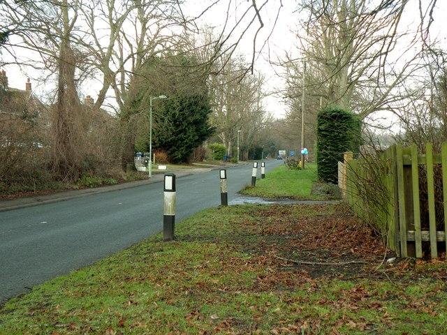 Thetford Road near Fornham St. Martin