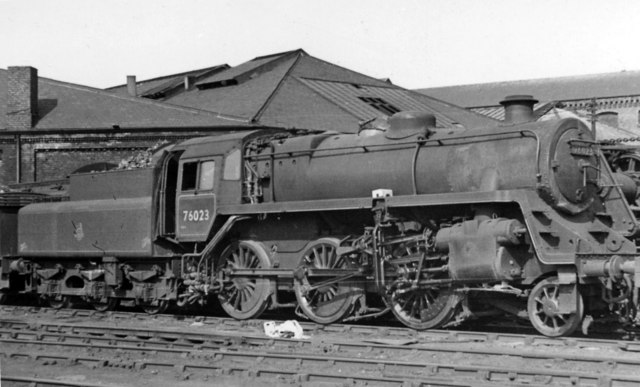 BR Standard 4MT 2-6-0 at Sunderland Locomotive Depot