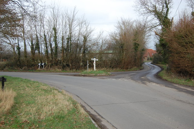 Junction with Station Road and Rickney lane