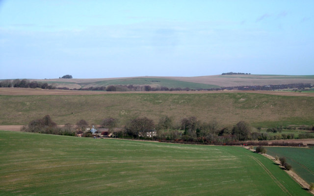 Aldbourne Warren Farm from the Downs near Upper Upham