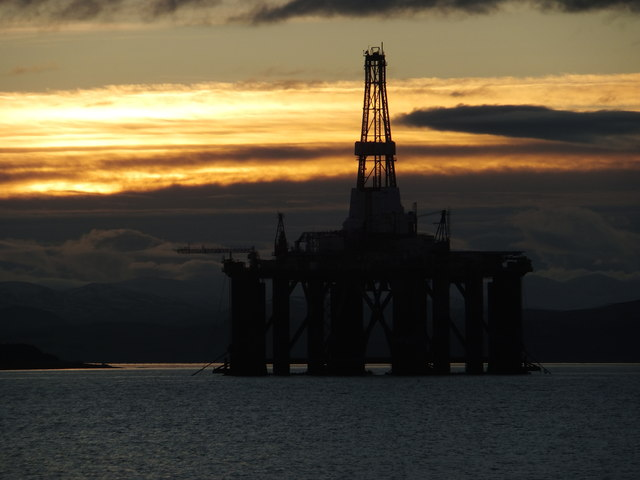 Drilling Rig anchored in the Cromarty Firth
