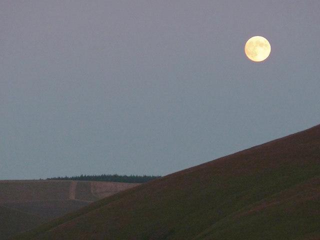 Moon over Cwm Doethie 3, Ceredigion