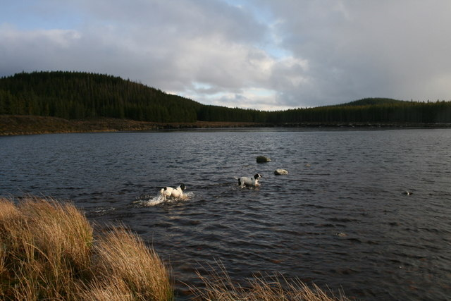 A view to the south of Loch Dallas