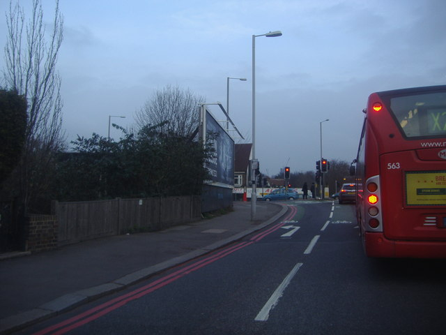 Left turn to Purley Way off Croydon Road, Waddon