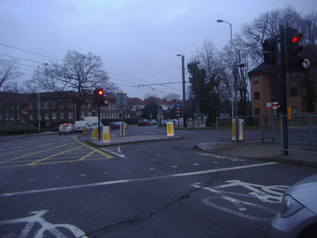 Junction of Chepstow Road and Addiscombe Road