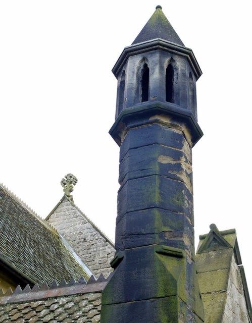 Ornamental chimney, St Mary's Church, Stamfordham