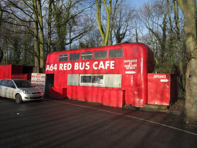The A64 Red Bus Café near Kiddal Bridge