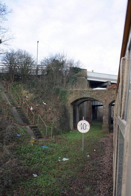 Charter train approaches compound bridge