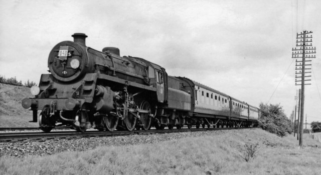 Sheffield - Bournemouth express at Worting Junction