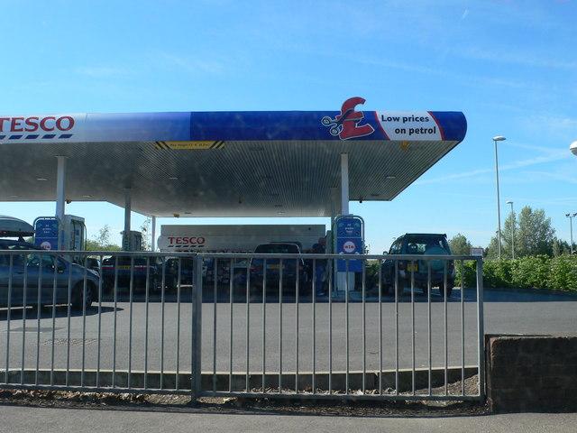 Tesco Filling Station on Tewkesbury Road