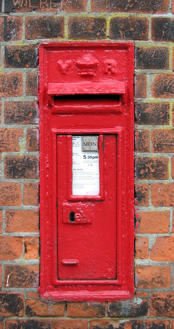 Victorian postbox by the entrance to Gippeswyck Park, Ipswich