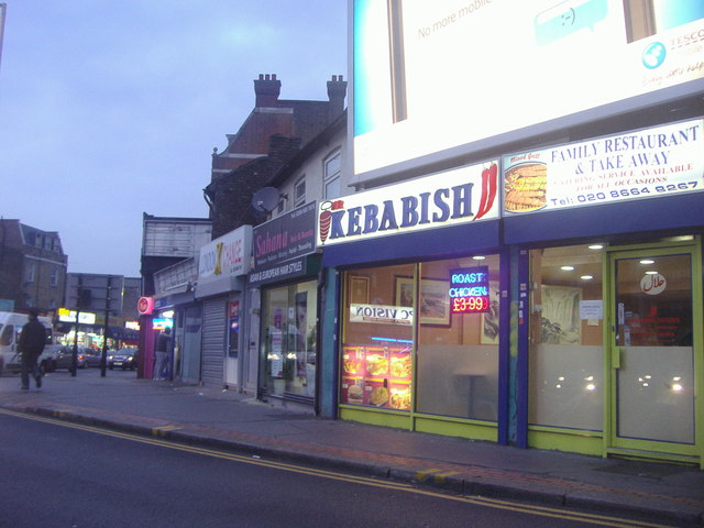 Shops on St James Road Croydon