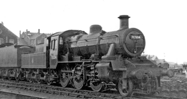 New BR Standard 2MT 2-6-0 outside Swindon Works